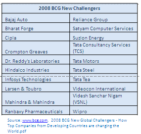 BCG 2008 New Global Challengers